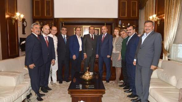 Başkan Sözlünün Tatar konukları