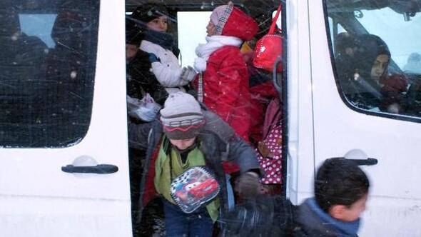 Yozgat'ta taşımalı eğitime kar engeli