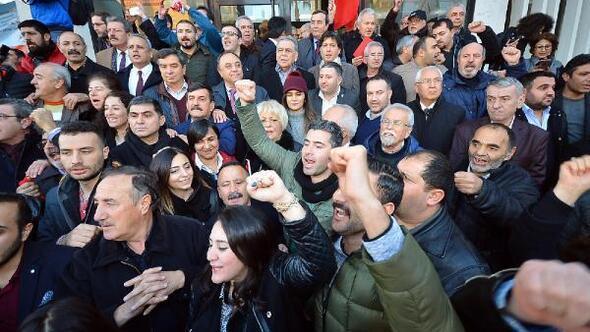 CHPlilerden başkanlığa Hayır eylemi