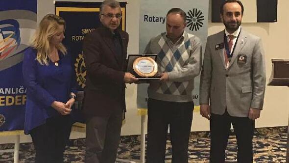Kalaycı Mehmet Ustaya Rotary Meslek Ödülü