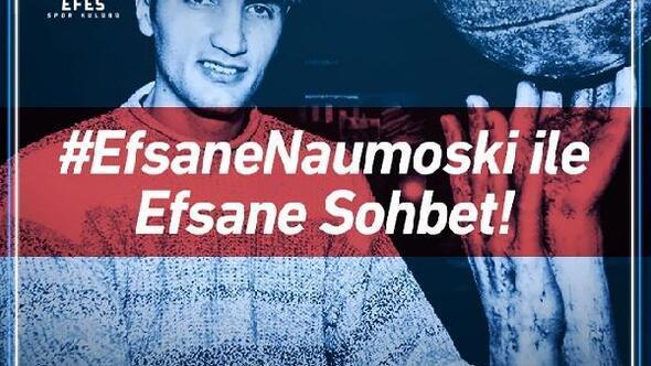 Efsane oyuncu Naumoski Anadolu Efes taraftarları ile buluşacak