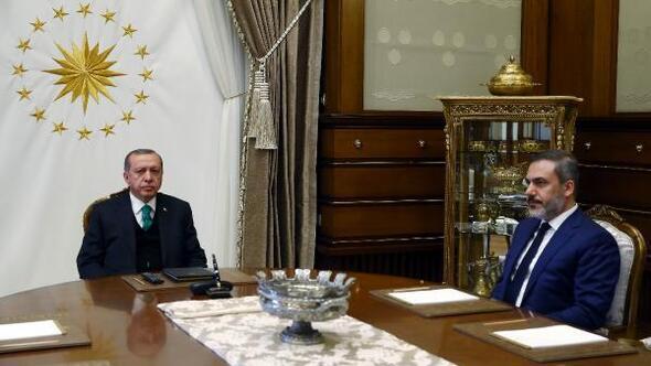 Cumhurbaşkanı Erdoğan MİT Müsteşarı Fidanı kabul etti