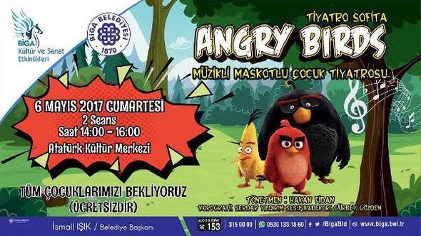 Angry Birds çocuklar için Bigada olacak
