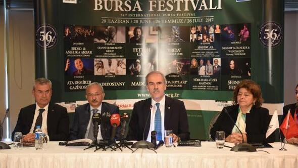 'Bursa Festivali'nde 56'ncı yıl coşkusu 28 Haziran'da başlıyor