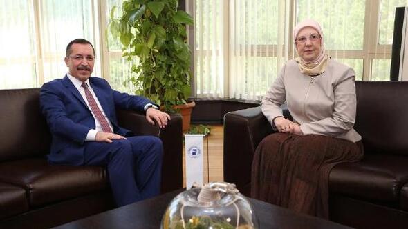 AK Partili Ramazanoğlundan Rektör Bağa ziyaret