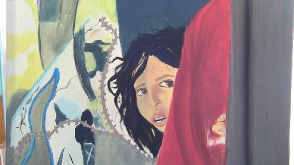Suriyeli çocuk, savaşı resmetti