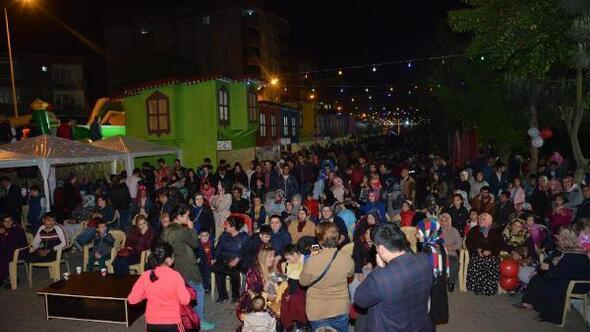 Terme'de ramazan sokağı ilgi odağı oldu