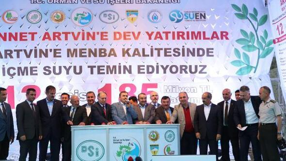 Bakan Eroğlu: Dere ıslah çalışması Hopa'yı kurtardı (2)