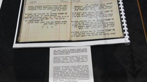 Bet Hillel Sinagogunda, Atatürk için edilen dua sergileniyor