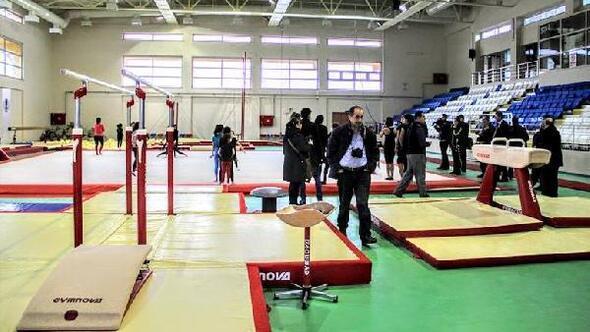 Hatayın yeni cimnastik salonu şampiyonaya hazır
