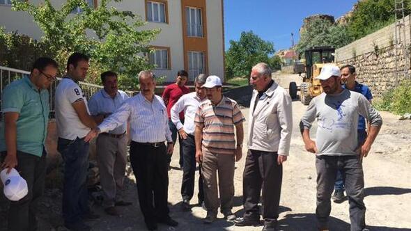Adilcevaz'da parke yol ve çevre düzenleme çalışmaları