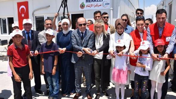 Başbakan Yıldırımın kardeşi, kızı ve gelini, Suriyelilerle iftar yaptı