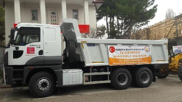 Kurşunlu Belediyesine yeni iş makineleri