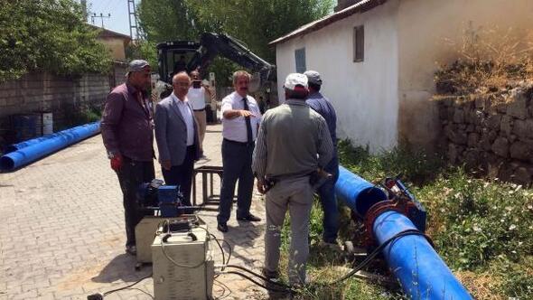Adilcevazda kapalı sistem sulama suyu çalışma