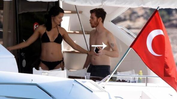 Adriana Lima ve Metin Haranın Bodrum tatili sürüyor
