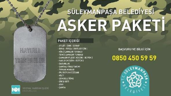 Suleymanpasa Belediyesi Askere Gidecek Genclere Asker Paketi Dagitacak