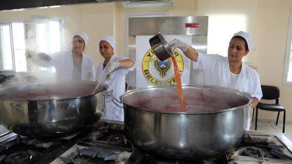 Adanada karpuz pekmezi yapıldı