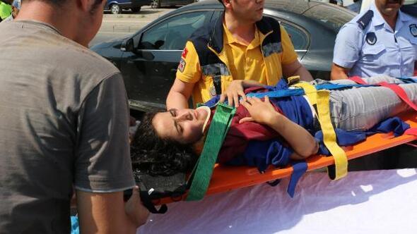 Zonguldakta otomobilin çarptığı genç kız yaralandı