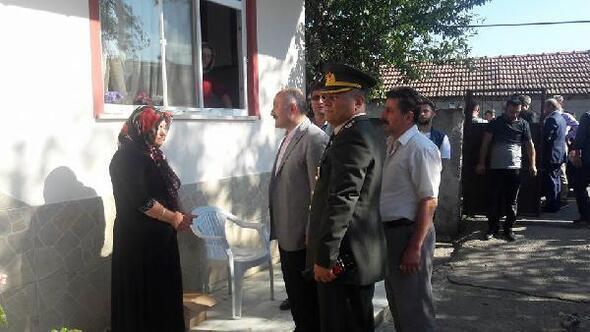 MHPli Usta, şehit ailesini ziyaret etti