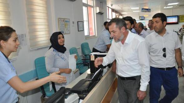 Sağlık Bakanlığı koordinatöründen hastalara ziyaret