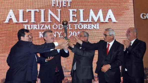 Dünya Turizm Oscar'ı olarak adlandırılan Altın Elma ödülü Konya'nın