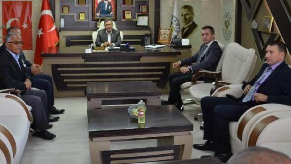 Kaymakam Solmazdan Başkan Eroğluna ziyaret