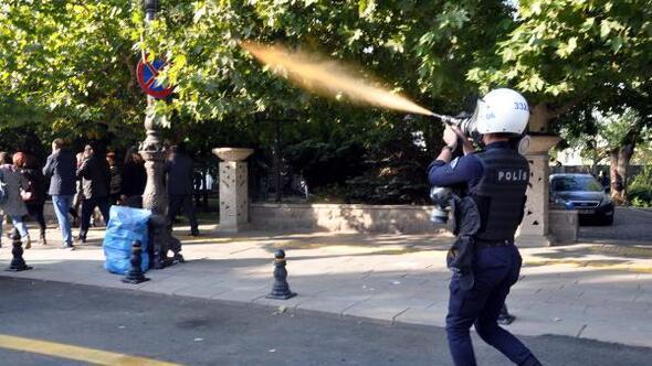 Ankarada gar saldırısının yıl dönümünde polis müdahalesi