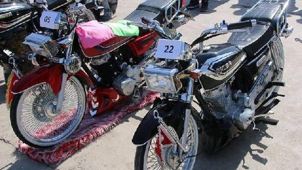 Merzifon'da Modifiyeli Motosiklet güzellik yarışması