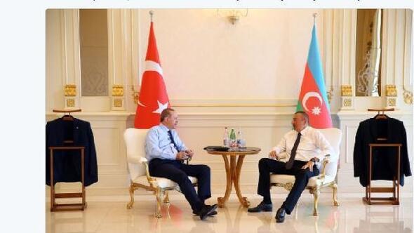 Cumhurbaşkanı Erdoğandan Aliyeve  samimi ve sıcak misafirperverlik mesajı