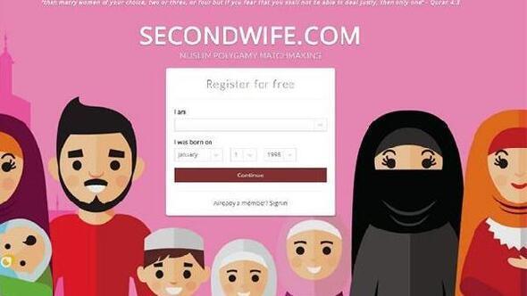 İngiltere'de ikinci eş için web sitesi