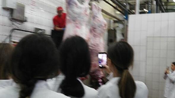 Biga'da Gıda Teknolojisi öğrencileri et entegre tesislerini gezdi