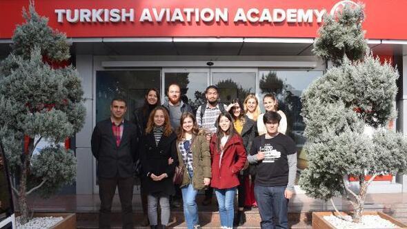 ABÜ öğrencileri THY Havacılık Akademide