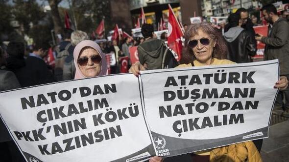 Beşiktaşta NATO protestosu