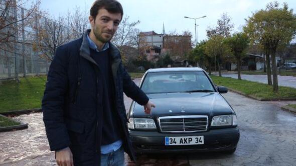 34 AKP 34 plakalı otomobilini 500 bin TLye satışa çıkardı
