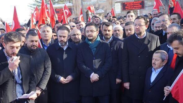 Nevşehir'de cuma namazı sonrasında Kudüs protestosu