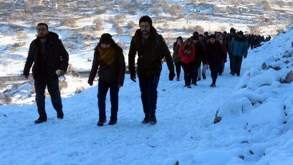 Şehit polis memuru Börklüoğlunun ölüm yıl dönümünde doğa yürüyüşü yapıldı