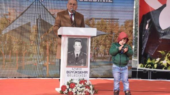 Bornovadaki parka Şehit Jandarma Üsteğmen Ömer Bozkurtun adı verildi