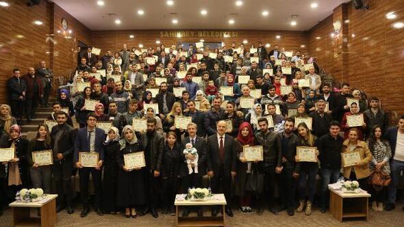 Evlilik Okulunda 90 çifte daha sertifika