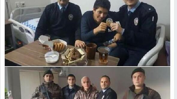 Trabzonda polislerden ALS tedavisi gören Erene sürpriz ziyaret