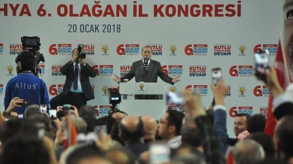 Cumhurbaşkanı Erdoğan: Afrin operasyonu sahada fiilen başlamıştır; bunu Münbiç takip edecek