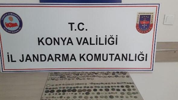 Konyada tarihi eser operasyonu: 2 gözaltı