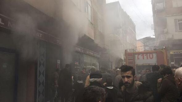 Samsunda mobilya mağazasında yangın
