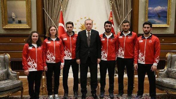 Milli Sporcular, Kış Olimpiyatları öncesi Cumhurbaşkanının huzuruna çıktılar