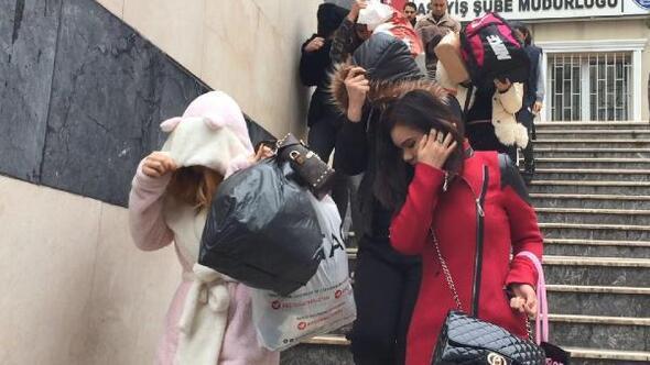 İstanbulda büyük fuhuş operasyonu... Çete üyesi 3ü kadın 17 kişi gözaltına alındı, 134 kadın kurtarıldı