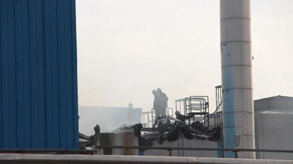 TMSFye devredilen ambalaj fabrikasında yangın