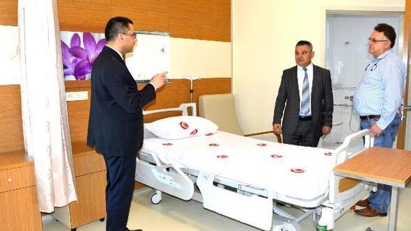Rektör Acer, yeni ÇOMÜ Hastanesinde inceleme yaptı