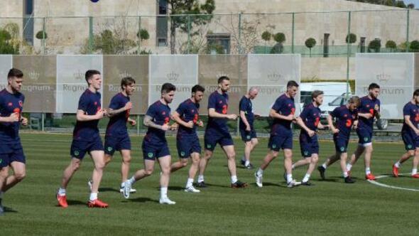 İrlanda Cumhuriyeti, Türkiye A Milli Futbol Takımı maçı hazırlıklarını sürdürüyor