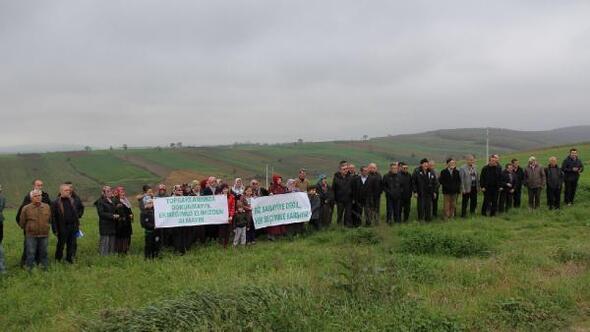 Tarım arazilerine sanayi bölgesi kurulmak istenmesine tepki gösterdiler