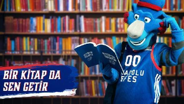 Anadolu Efesin Bilet yerine kitap ile gelin kampanyası Tofaş maçında gerçekleştirilecek