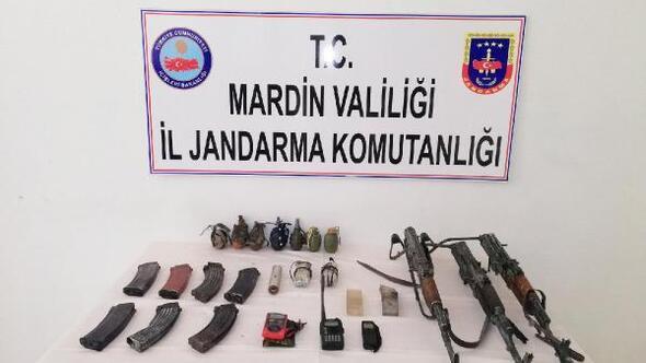 Mardinde PKK silah ve mühimmatları ele geçirildi